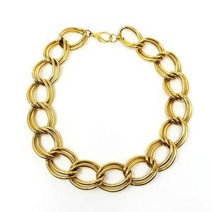 Design Lab Goldtone Chain Link Statement Necklace